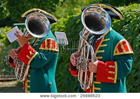 Two men with Trombones
