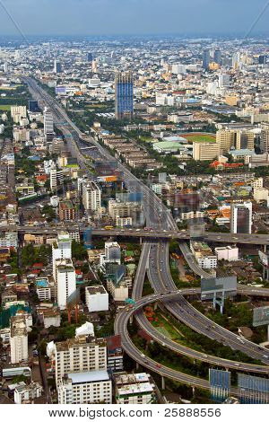 City Highway View in Bangkok