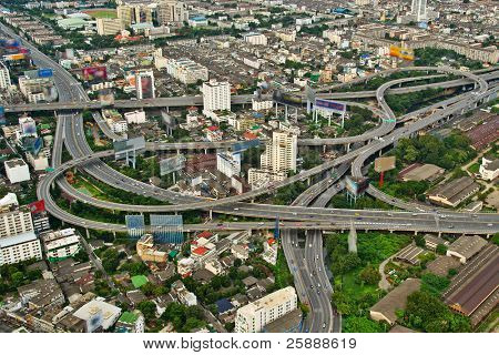 Highways of a city of Bangkok