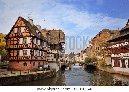 Colorful houses of Strasbourg