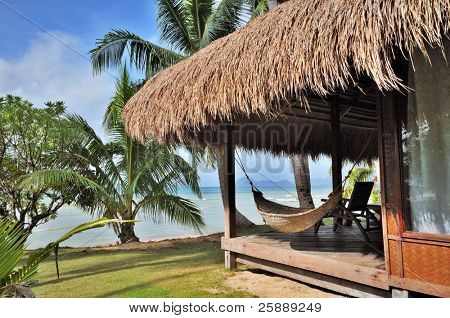 Cottage with Seaview on Tropical Beach