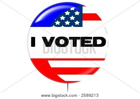 Election Day Campaign Vote Button