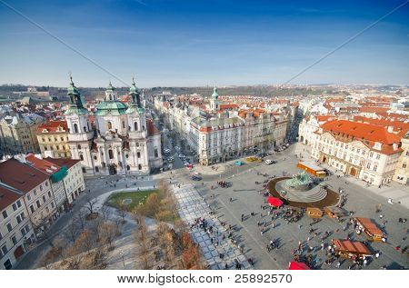 St. Nicholas Church and the Old Town Square, Prague, Czech Republic
