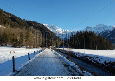 Down The Lenk To Wildstrubel Walkway