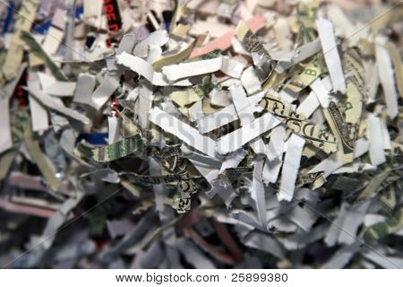shredded secret documents