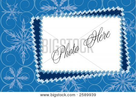 Winter Frame With Snowflake