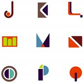 picture of asymmetrical  - letter icons - JPG