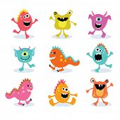 stock photo of monster symbol  - little monsters set 2 - JPG