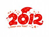 image of new years celebration  - 2012 year design in the form of a Dragon - JPG
