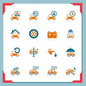 stock photo of car wash  - Car service icons - JPG
