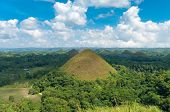 stock photo of chocolate hills  - view over the famous chocolate hills on Bohol Philippines - JPG