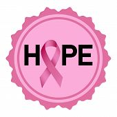 Breast Cancer Hope Logo. Realistic Illustration Of Breast Cancer Hope Vector Logo For Web Design Iso poster