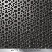 Vector Decorative Metallic Background