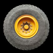 Isolated Truck Tire