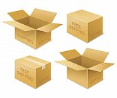 pic of fragile sign  - vector illustration of free shipping icon - JPG
