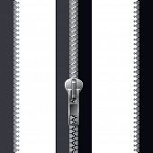 image of zipper  - grey zipper - JPG
