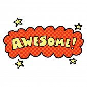 comic book style cartoon awesome sign poster