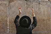 Jerusalem.The Western Wall.Pray.