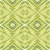 Green Geometric Watercolor. Delicate Seamless Pattern. Hand Drawn Stripes. Brush Texture. Dazzling C poster