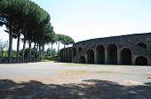 Exterior Of Arena In Pompei Italy