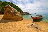 foto of beach hut  - Thailand Vacations Scene with Long - JPG