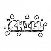line drawing cartoon chill symbol poster