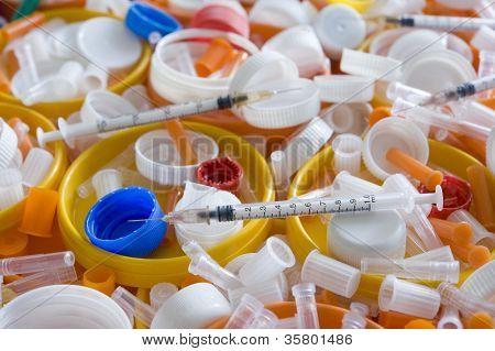 Medical plastic trash