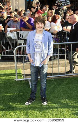 LOS ANGELES - AUG 6: Brendan Meyer at the premiere of Walt Disney Pictures' 'The Odd Life of Timothy Green' at the El Capitan Theater on August 6, 2012 in Los Angeles, California
