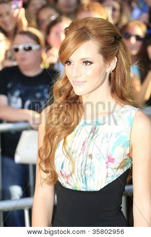 LOS ANGELES - AUG 6: Bella Thorne at the premiere of Walt Disney Pictures' 'The Odd Life of Timothy Green' at the El Capitan Theater on August 6, 2012 in Los Angeles, California