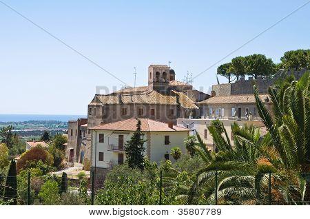 St. Maria di Valverde Church. Tarquinia. Lazio. Italy.