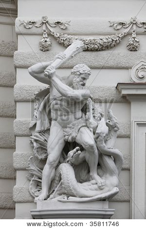 Hercules fighting the Hydra, Hofburg, Vienna