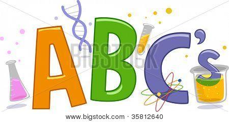 Text Illustration Featuring Laboratory Tools