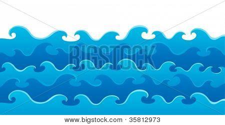 Wellen Thema Bild 5-Vektor-Illustration.