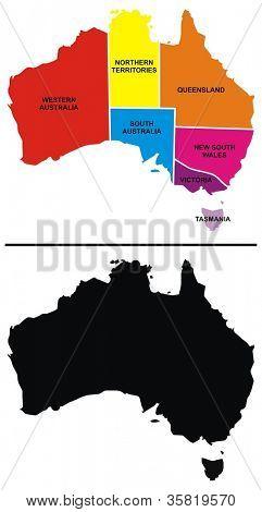 Vector - Australia Map