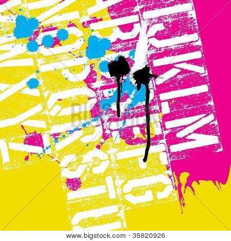 CMYK Print concept background. Raster version, vector file available in portfolio.