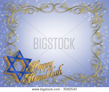 Hanukkah Grenze frame