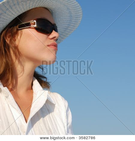 Woman In Glasses Profile
