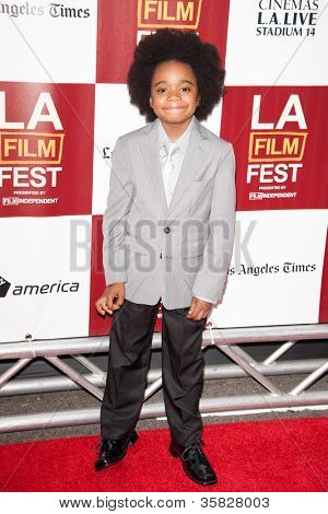 LOS ANGELES, CA - JUNE 20: Nehemiah Sutton arrives at the Los Angeles Film Festival premiere of 'Middle of Nowhere' at Regal Cinemas L.A. LIVE 1 on June 20, 2012 in Los Angeles, California.