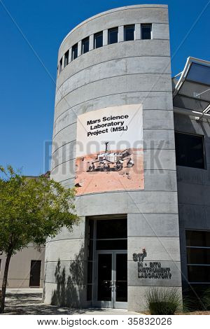 LA CANADA, CA - AUGUST 13: The testing facility for the NASA Mars Science Laboratory, named Curiosity, at the Jet Propulsion Laboratory in La Canada, CA on August 13, 2012.