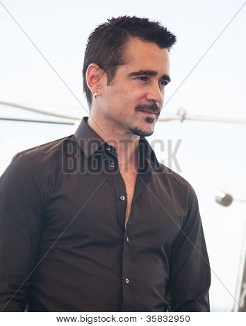 "MOSCOW, RUSSIA, AUGUST, 8: Actor Colin Farrell. Premiere of the movie ""Total Recall"", August,8, 2012 at RITZ HOTEL in Moscow, Russia"