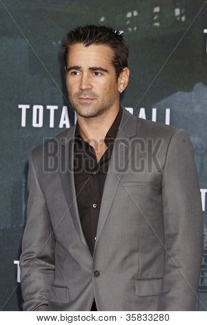 BERLIN, GERMANY - AUGUST 13: Colin Farrell at the German premiere of 'Total Recall' at Sony Center on August 13, 2012 in Berlin, Germany