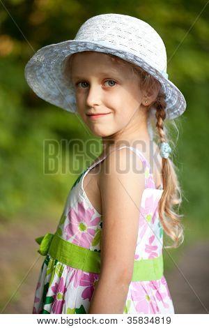 Beautiful Blue-eyed Little Girl