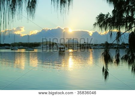 Sunrise Over Marina Mirage