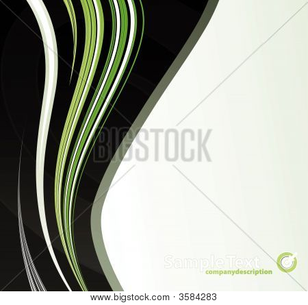 Green Tones Abstract Lines