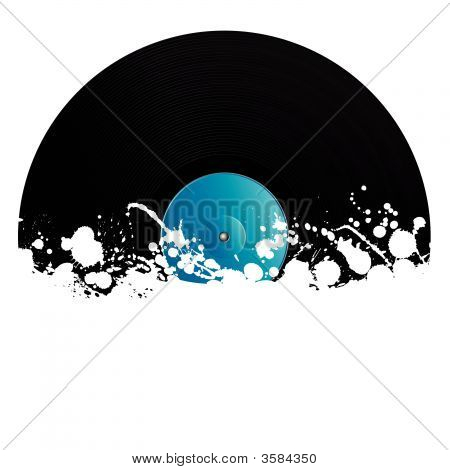 Splatter Retro Vinyl Design Element
