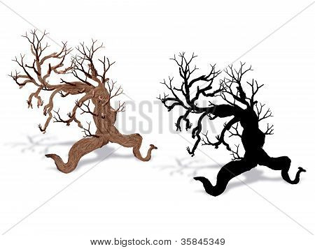 Fantasy Tree With Silhouette