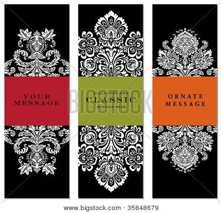 Vector Ornate Frame Set. Easy to edit. Perfect for labels, invitations, or announcements.