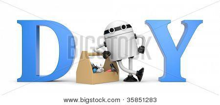 DIY metaphor with robot