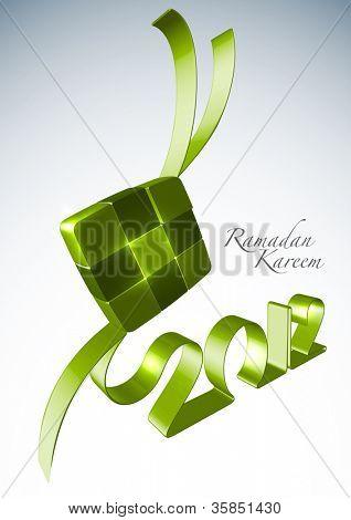 3D Muslim Ketupat 2012 Translation: Ramadan Kareen - May Generosity Bless You During The Holy Month