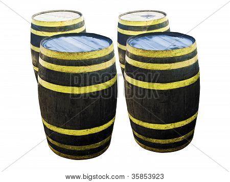 Isolated Liquor Barrels